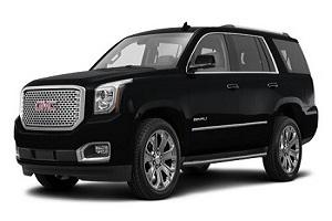 gmc yukon denali limo rental fleet vehicle
