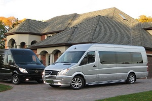 limo car service by mercedes sprinter van