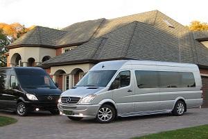mercedes sprinter van limo rental fleet vehicle