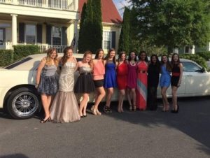 prom limousine service guests 2